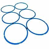 #DoYourFitness 6X Koordinationsringe - Größe 39cm o. 49cm - Steckverbindung BZW. Stecksystem - Agility Rings/Koordinationsgitter zur Steigerung Schnelligkeit/Beweglichkeit 49cm(blau)