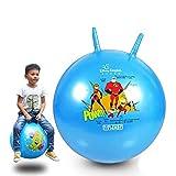 Klauenball Kindergarten explosionsgeschützte Kinder hüpfen hüpfen Ball Spielzeug extra dicken elastischen Griff Ball große Größe kann sitzen-Blau 52CM glänzend