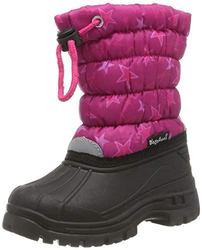 Playshoes Dziewczęce buty zimowe z gwiazdkami, różowy - Różowy 18-26/27 EU