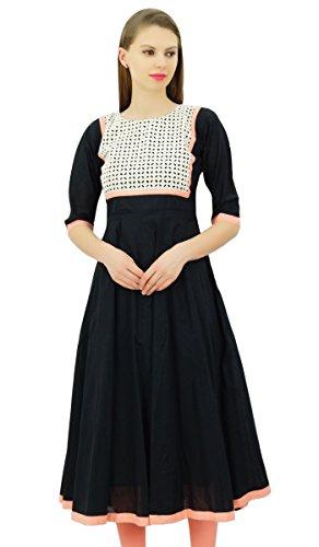 Bimba diseñador de Las Mujeres abocardada Elegante Kurta Anarkali Vestido de algodón...