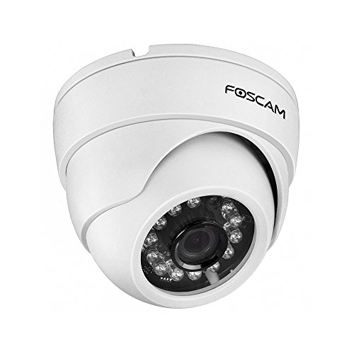 Foscam 720P HD WiFi Dome IP Camera, Indoor Security Surveillance Camera,33ft Night Vision, Motion Detection & Alert Notification, Free Image/Video Cloud Storage Service Available, FI9851P, White