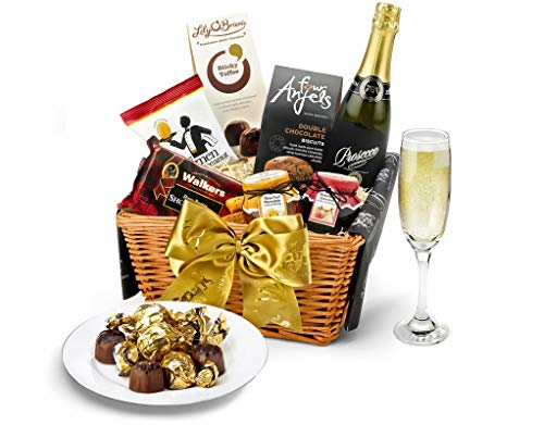 Windermere Hamper With Prosecco - Hand Wrapped Gourmet Food Basket, in Gift Hamper Box