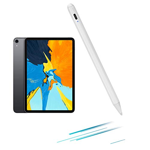2020 iPad Pro 11' 2nd Generation Stylus Pen with Palm Rejection,Active Stylus Digital Pen Type-C Charge with 1.0mm Tip Pencil for Apple 2020 iPad Pro 11-inch Drawing Stylus Pen,White