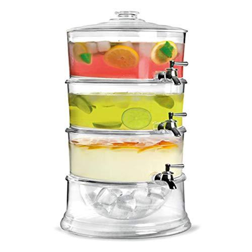 TuToy 3-laags sap koud drinken limonade drank dispenser koeler houder met tikken