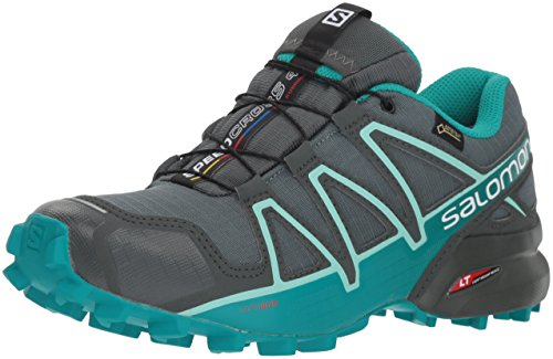 Salomon Women's Speedcross 4 GORE-TEX Trail Running Shoes, Balsam Green/Tropical...