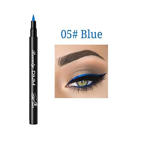 Wovemster Color Líquido Delineador De Ojos Lápiz Delineador De Ojos Suave, Antialérgico, Resistente Al Agua, Duradero, De Larga Duración, Maquillage Cosmétique,azul