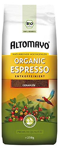 BIO Espresso gemahlen ENTKOFFEINIERT im Beutel, 250g