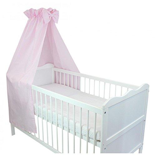 TupTam Babybett Himmel mit Schleifchen, Farbe: Rosa, Größe: ca. 160x240 cm