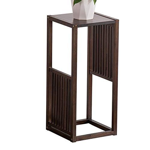 SZ JIAOJIAO bloemenstandaard - Bamboe bloempot Rack Display plank voor binnen en buiten tuin terras balkon (grootte: 31x31x70cm)