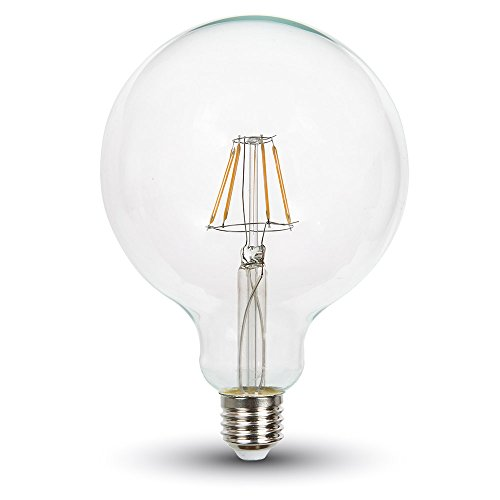 V-TAC SKU.4422 Ampoule LED Filament 10W E27 VT-1979, Plastique,et Autre materiaux, Blanc, Hauteur x Largeur x Profondeur : x 125 mm x 165 mm