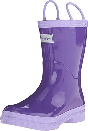 Hatley Boy's Solid Handled Rain Boot (Toddler/Little Kid) Purple/Lilac 6 Toddler M