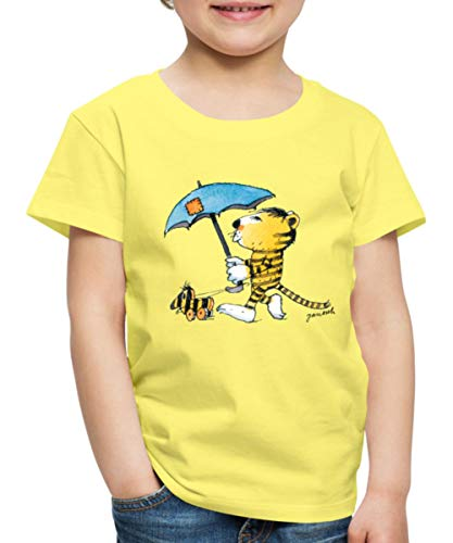 Janosch Kleiner Tiger Tigerente Mit Schirm Kinder Premium T-Shirt, 98-104, Gelb