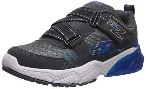 Skechers Kids Boys' THERMOFLUX 2.0-Mano-Speed Sneaker, Charcoal/Blue, 1 Medium US Little Kid