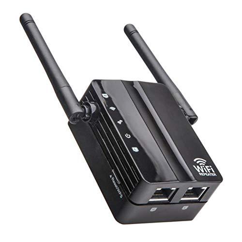 HS-MANWEI WiFi Booster Range Extender Mini Wireless N Router WiFi del Ripetitore WiFi Range Extender Router 2.4Ghz 802.11N / G/B Ripetitore del Segnale con AP modalità R20,Nero,US Plug