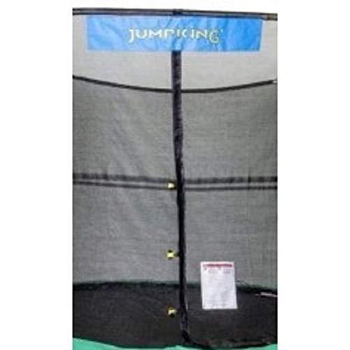 JumpKing 14' x 17' Enclosure Net Oval for 8 Poles with JK Logo, Black