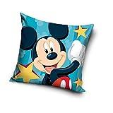 Une Funda de cojín de Mickey o Minnie Mouse, 40 x 40 cm (azul 20713)