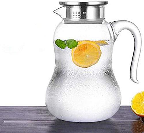 Bouilloire induction Bouilloire de verre bouteille d'eau froide résistant à la chaleur haute température couverture de verre filtre tapiot cuisine de théière pour bureau à domicile extérieure WHLONG