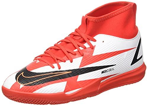 Nike Jr. Mercurial Superfly 8 Academy CR7 IC, Soccer Shoe, Chile Red/Black-White-Total Orange, 38 EU