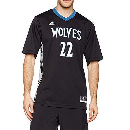 adidas INT Replica JRSY Camiseta de Manga Corta, Hombre, Multicolor (NBA Minnesota Timberwolves 6 3Hm), L