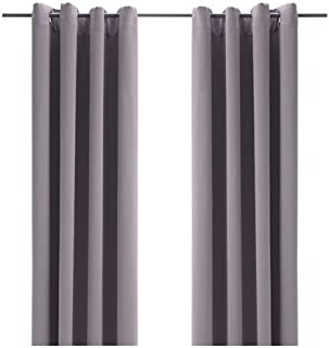 Ikea Block-out curtains, 1 pair, gray 57x98