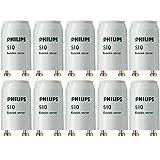 Philips Paquete de 10 x 4 W a 65 W Universal Starter FSU S10 2G10, 58 W, Blanco, 1 pack, 10 Pack