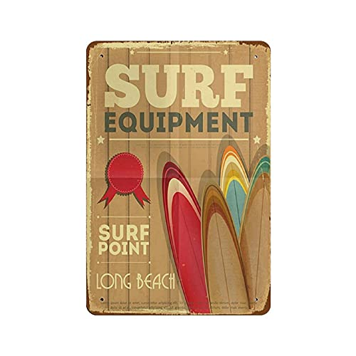 """""""Surf"""" įrangos skardos ženklas metalinės plokštės dailumas pakabinamas geležies tapyba retro namų virtuvės sodo garažo sienų dekoras 12 'x8'"""