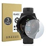 E-Hamii [3 Piezas Vidrio Templado Inastillable 9H Compatible con Garmin Forerunner 945,Protector de Pantalla[Cristal HD Claro]de 0.33 mm para Garmin Forerunner 945
