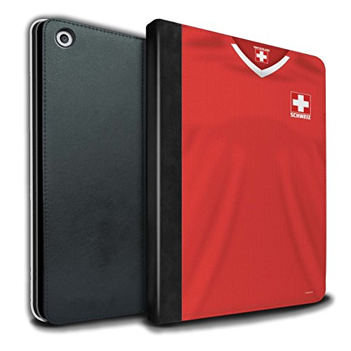 Stuff4® PU-lederen hoes/case/portefeuille/IP-TSB/World Cup 2018 voetbalshirt collecktion Apple iPad 9.7 (2017) Zwitserland/Zwitsers
