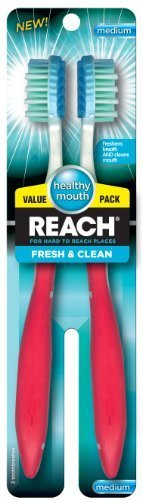 Reach Fresh and Clean Value Pack Adult Toothbrushes, Medium, 2 Count by Reach