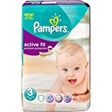 Pampers 81337205 - Pannolini Active Fit, taglia 3, 4-9 kg, Mgapack x 111