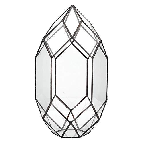 Jacksing Contenitore per Piante, Vaso per Fiori in Vetro, Vaso per fioriera a Forma Geometrica per Balcone per Giardino