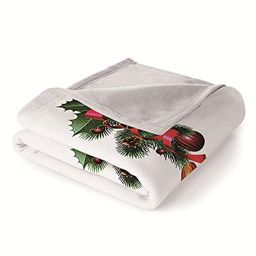 Mantas para Sofa Batamanta Mujer de Franela y Sherpa Manta Bebe Sofa Mantas con Estampados para la Cama y el Sofá 130x150 cm Decoración navideña