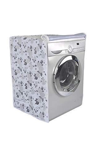 Premier No-1 LG Front Load Washing Machine Suitable Cover for 7 kg, 7.5 kg, 8 kg, 8.5 kg (White and Grey)