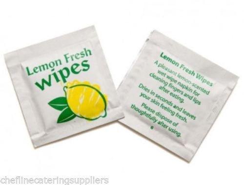 50x Citron Parfumé Frais Main Wet Wipe