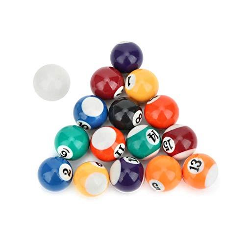 TOPOU Billard Ball Mini Billard Ball 16pcs beinhalten Ball Indoor Outdoor Game Mini Billardtisch Billardkugeln Set