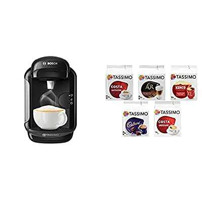 Bosch Tassimo Vivy 2 Coffee Machine Bundle with Tassimo Variety Box - Pack of 5 (56 Servings)