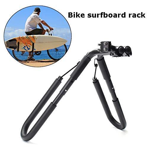 Elikliv Surfboard Wakeboard Fahrrad Rack 20,3 cm Fahrrad Surfboard Rack 25-32 mm Fahrrad Halterung Fahrrad Surfen Träger Befestigung an Sattelstütze Fahrrad Zubehör