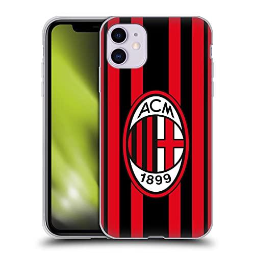 Head Case Designs Licenciado Oficialmente AC Milan Home 2021/22 Crest Kit Carcasa de Gel de Silicona Compatible con Apple iPhone 11