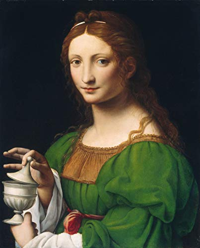 "Bernardino Luini The Magdalen 1525 National Gallery of Art - Washington DC 30"" x 24"" Fine Art Giclee Canvas Print (Unframed) Reproduction"