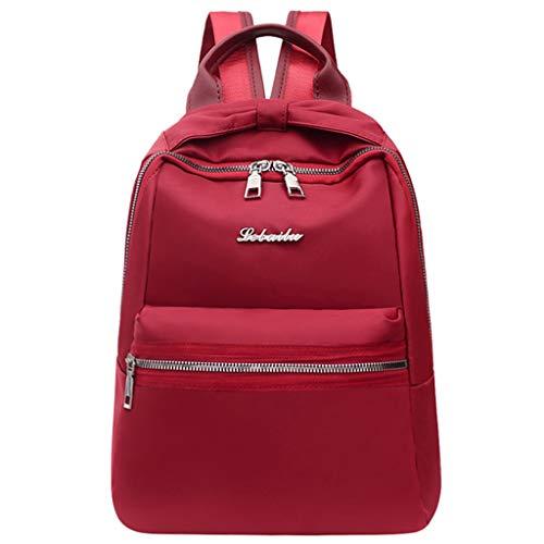 Leedy - Zaino per la scuola, da donna, colore: Rosa/Rosso, Rosso (Rot), Taglia unica