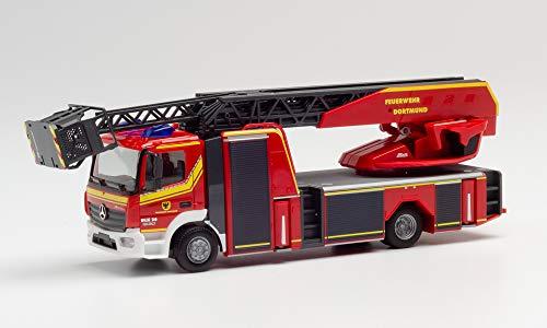 """herpa 940221 Sprinter Messemodell Intermodellbau: Mercedes-Benz Atego Drehleiter """"Feuerwehr Dortmund"""", Mehrfarbig"""