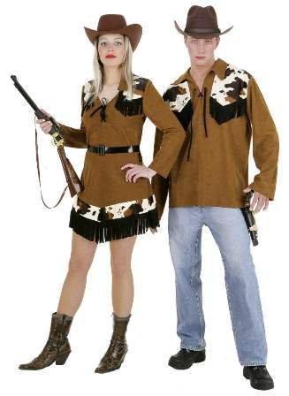 Faschingskostüm Damen Cowgirl-Kleid, Western Gr. 40