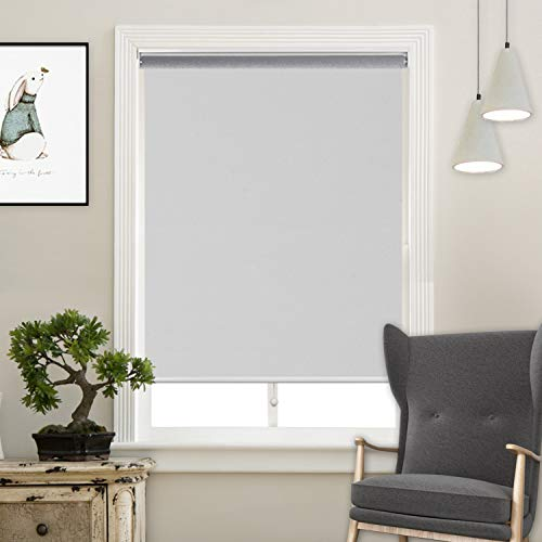 Acholo Cordless Roller Shades Light Blocking UV Protection Window Shades for Home,Hotel,Club,White 48x72
