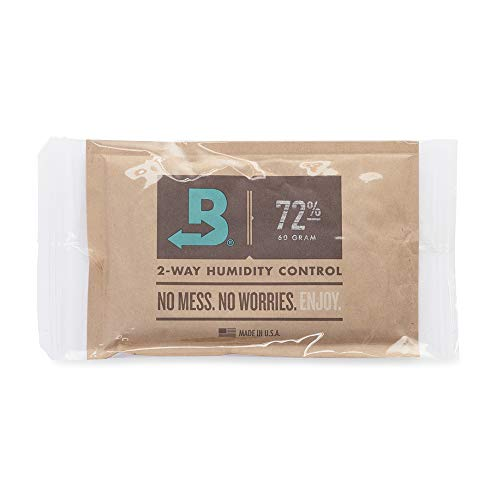 Boveda for Cigars/Tobacco | 72% RH 2-Way Humidity Control | Size 60 for Use with Every 25 Cigars a Humidor Can Hold | Patented Technology for Cigar Humidors | 1-Count