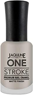 Jaquline USA One Stroke Premium Nail Enamel Matte Finish, Love Zoned 37, 8 ml