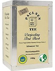 Darjeeling First Flush, Oogst 2020 , in theekist, 1000g , Paulsen Tee Zwarte thee, residu gecontroleerd & gecertificeerd