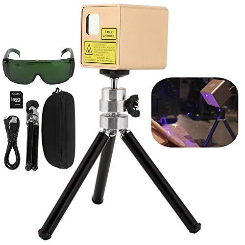 Grabador láser, mini portátil dorado para máquina de grabado láser inteligente Cubiio Grabador láser 110-240V Versión básica para artículos personalizados para cuero de madera(#3)