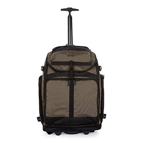 Antler Tundra Trolley Backpack, Durable Trolley Suitcase, Backpack, Holdall & Duffle Bag with Wheels (Brown, Backpack)