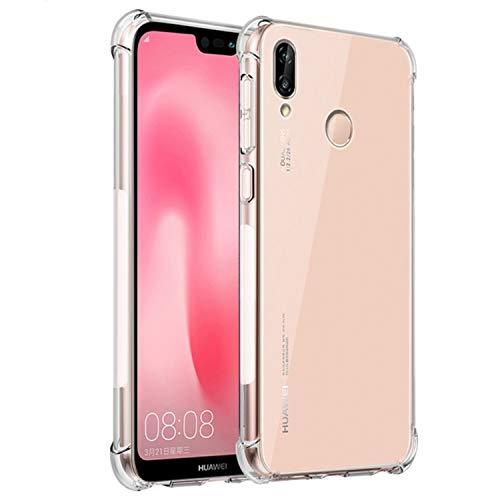 Funda para Huawei P20 Lite/Nova 3e, Transparente Carcasa Ultra Hybrid Protección Cojín de Esquina Shock-Absorción y Anti-Arañazos Suave TPU Funda para Huawei P20 Lite/Nova 3e- Transparente