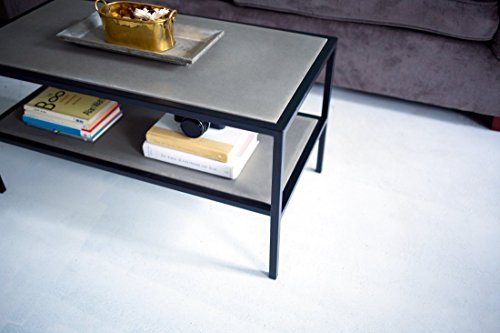 Concrete Coffee Table Modern Furniture Industrial Home Decor Custom Living Room Free Shipping Included